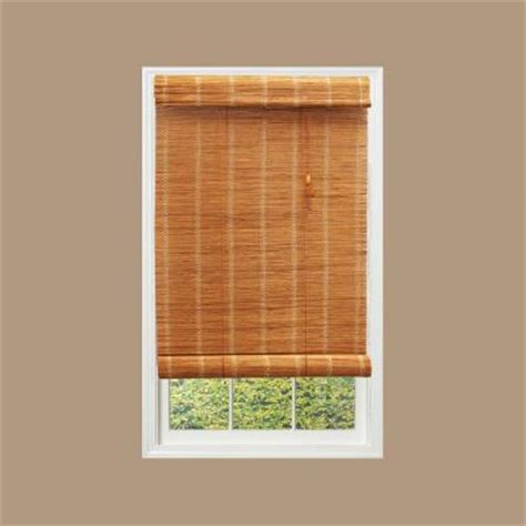 hton bay nutmeg simple weave bamboo roll up shade 96