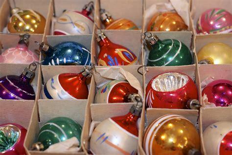 polished pebble collecting vintage christmas ornaments