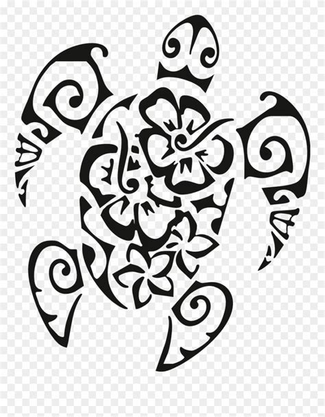 Hawaiian Design Tattoos Turtle Clipart (#4130208) - PinClipart