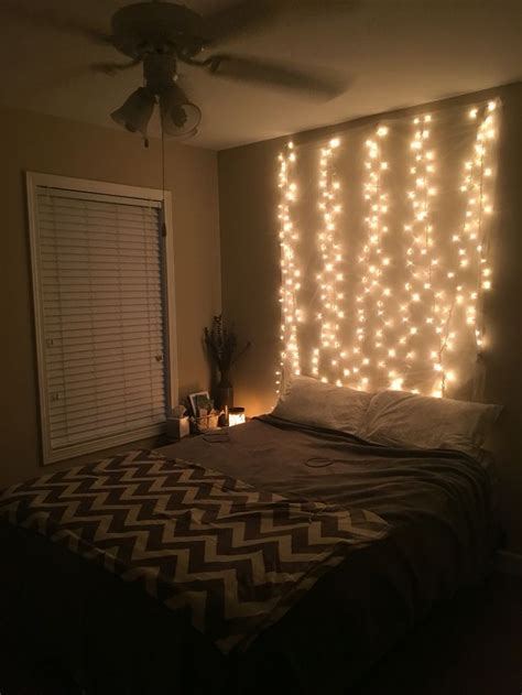 beds with lights in headboard fairy lights headboard room decor pinterest light
