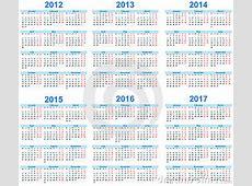 Calendar 2012 2017 Stock Images Image 21245814