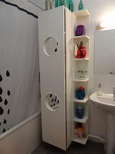 Linge De Toilette Ikea : le panier linge lillangen devient un placard de salle de bain ~ Teatrodelosmanantiales.com Idées de Décoration