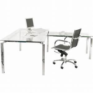 Bureau Angle Verre : bureau d 39 angle design en verre lorenco kare ~ Teatrodelosmanantiales.com Idées de Décoration
