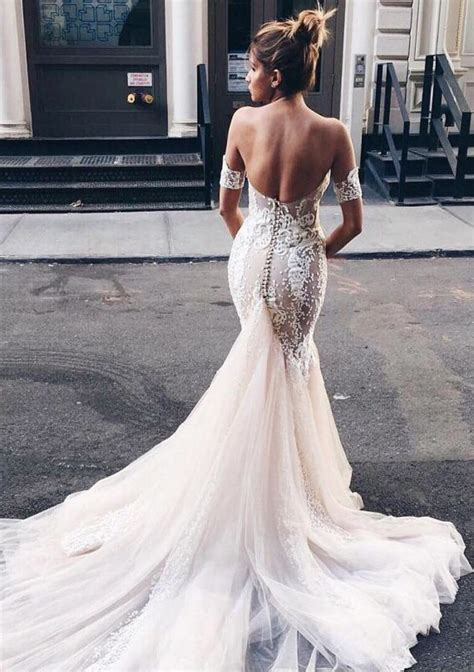 Mermaid Sweetheart Backless Light Champagne Wedding Dress