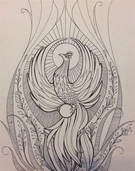 phoenix rising  diane yi  embroidery art drawings dragon dreaming