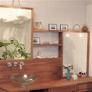 Plan De Travail Salle De Bain Bois : univers salle de bain flip design boisflip design bois ~ Teatrodelosmanantiales.com Idées de Décoration