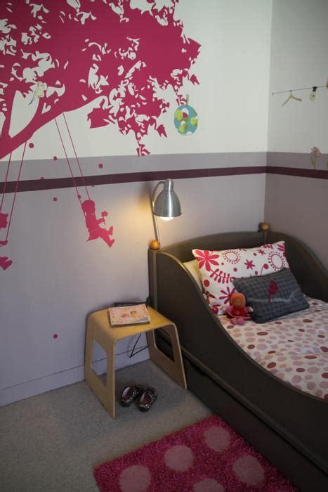 peinture chambre mauve et blanc photo chambre enfant et déco photo deco fr