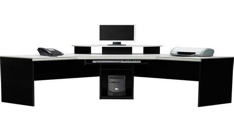 Office glass table, black corner desk large corner desk