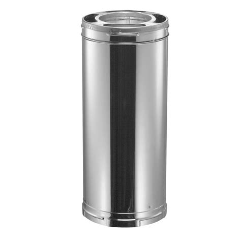 stainless steel wall stove pipe duravent duraplus 6 in x 9 in wall chimney stove 9390