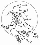 Witch Coloring Pages Scarlet Printable Getcolorings sketch template