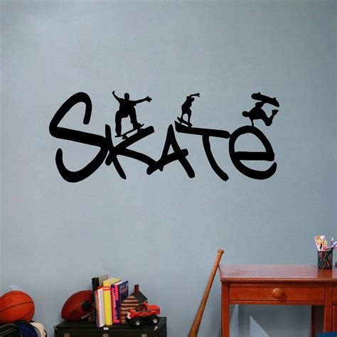 skate sports wall stickers for rooms wall decals
