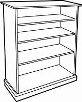 Bookcase Google Clipart Empty Cupboard Shelf Books Clip Toy Drawing Shelves Door Library Bd Bookshelves sketch template