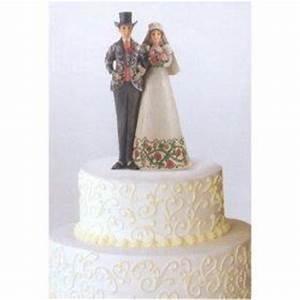 Christmas Themed Wedding Cake Topper Couple