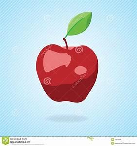 Cute Cartoon Red Apple. Vector Illustration Royalty Free ...