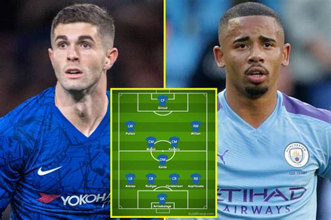 City are set to be crowned premier league winners soon and could potentially run into chelsea again in the champions league final. Christian Pulisic to start and Gabriel Jesus in for Sergio ...