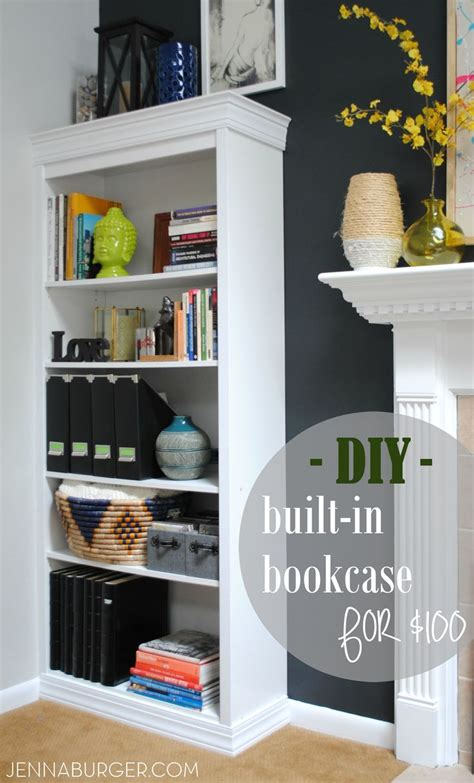 bookcases that look like built ins diy tutorial how to make a laminate bookcase look like a