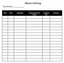 Phone Log Template Mobawallpaper