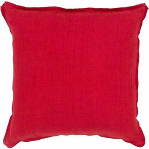 20quot cherry red simply colored decorative solid throw With decorative pillow fillers