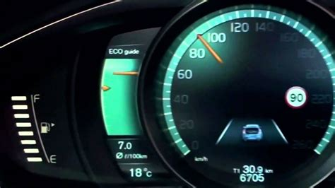 volvo   active tft display  instrument