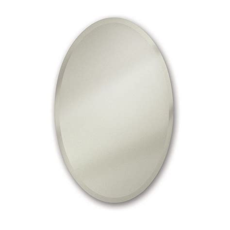 oval recessed medicine cabinet shop metro oval 21 25 in x 31 25 in oval recessed