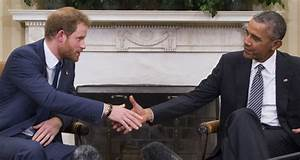 Prince Harry Meets With President Obama in the Oval Office ...