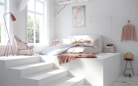 white bedroom designs with variety of wall texture