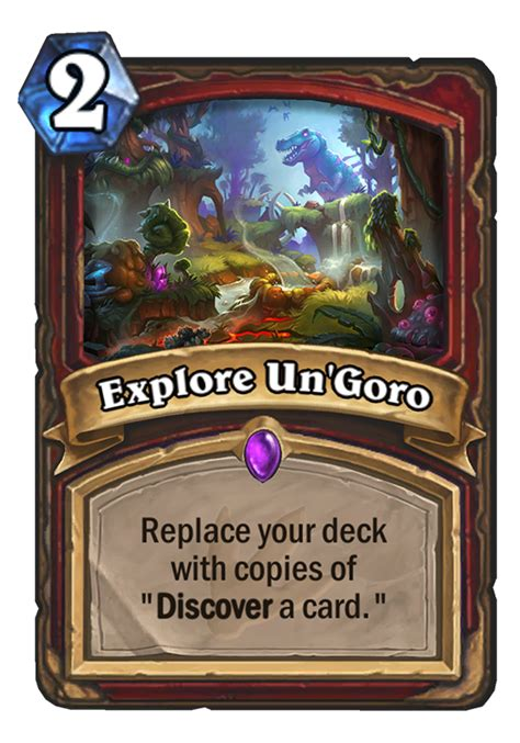 Hearthstone Deck Ungoro by Explore Un Goro Hearthstone Card