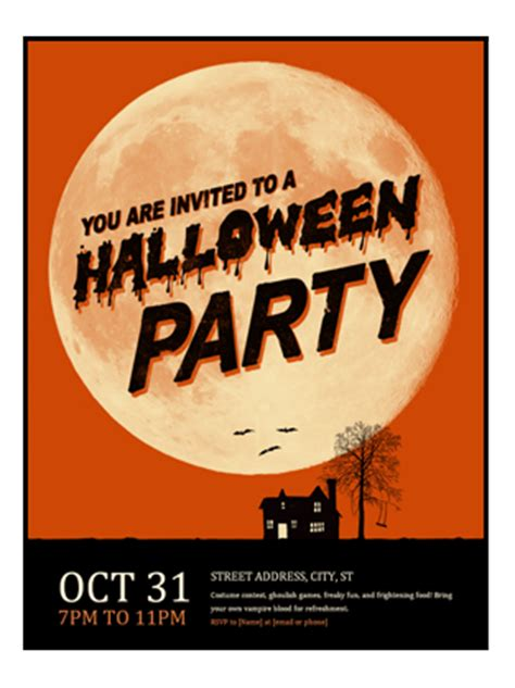 halloween flyer office templates