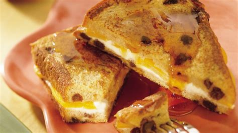 Peach Stuffed Oven French Toast Recipe Pillsbury