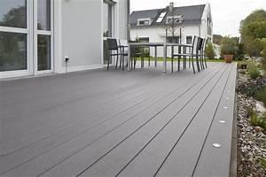 Terrasse Wpc Grau : mydeck terrasse basalt mit beleuchtung bodenstrahlern bs holzdesign ~ Markanthonyermac.com Haus und Dekorationen