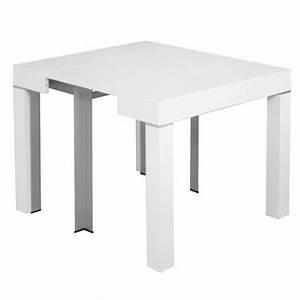 Table Extensible But : table console extensible blanche laqu e 4 rallonges alesia achat vente ensemble salle a manger ~ Teatrodelosmanantiales.com Idées de Décoration