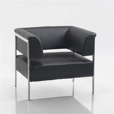 Contemporary Sofas And Chairs by Contemporary Leather Reception Sofa Black And Chrome