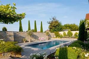 Garten Pool Und Architektur Ergeben Eine Harmonie Der