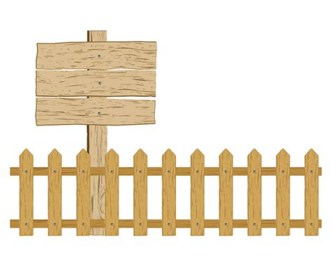 Cartoon Clip Art Fence Free Vector / 4vector
