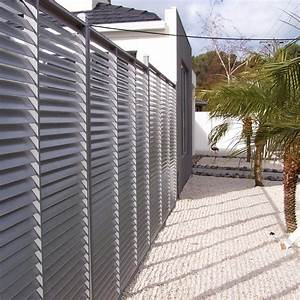 Brise Vue Design : wandgestaltung wohnzimmer m tal et bois brise vue ~ Farleysfitness.com Idées de Décoration