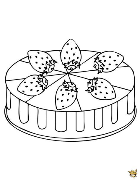 jeux de fille de cuisine de le fraisier est un gâteau à colorier et à imprimer