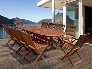 Table De Salon Bois : salon de jardin en bois exotique taipei bali 1 table extensible 240 300cm 2 fauteuils ~ Teatrodelosmanantiales.com Idées de Décoration