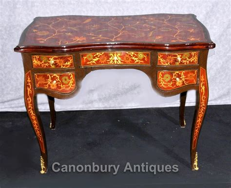 bureau marqueterie empire desk floral marquetry inlay writing table bureau