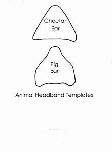template of a pig kids coloring europe travel guidescom With template for pig ears