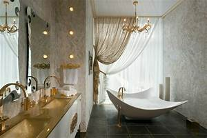salle de bain de luxe chic et originale design feria With salle de bain luxe design