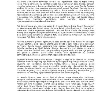 Contoh naskah drama basa sunda bahasa sunda. Contoh Artikel Sunda Beserta Strukturnya : Artikel Bahasa Sunda Tentang Tradisi Sunda Guru ...