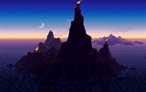 These animated pixel art landscapes by artist Mark Ferrari ...