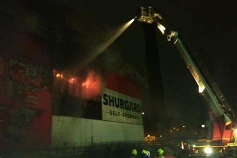 croydon fire purley  shurgard  storage blaze