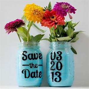 Things, Brides, Love, Mason, Jar, Wedding, Reception, Decor, Centerpieces, Save, The, Date