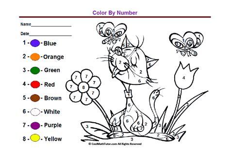 preschool colors kindergarten coloring worksheets