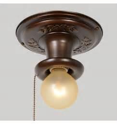 Pull Cord Bathroom Light