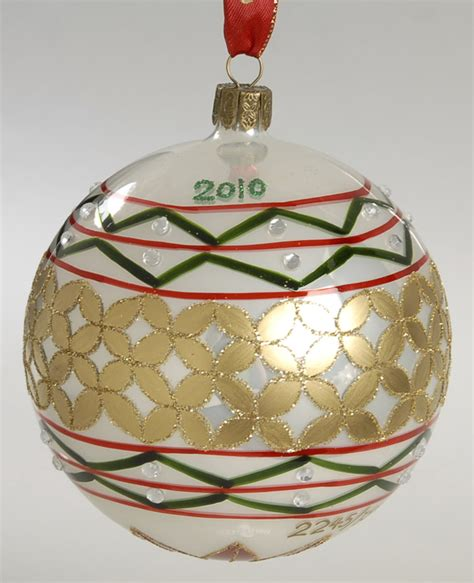 waterford s 2010 annual dated holiday heirloom ball