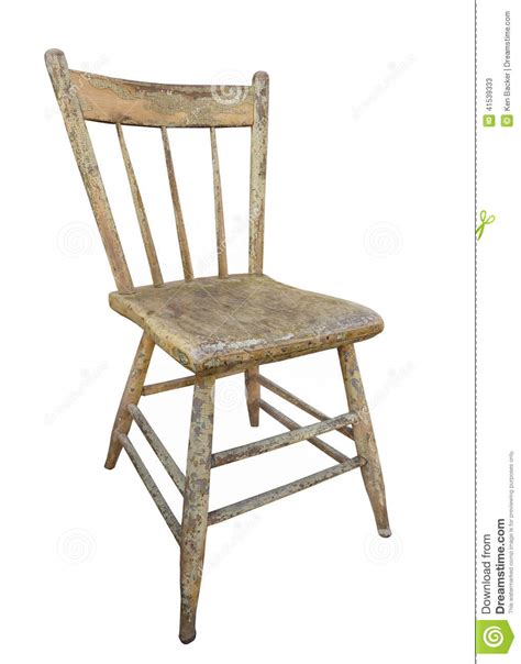 wooden kitchen chair isolated stock image image