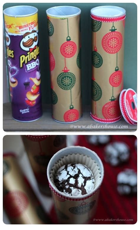diy cookie gift holders  pringle jars pictures
