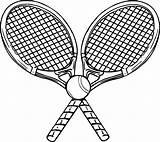 Tennis Coloring Ball Racket Rackets Racquet Sheets Printable Wecoloringpage Writing sketch template